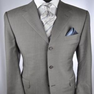 CANALI Super 120's Gray/Brown 3Btn Suit